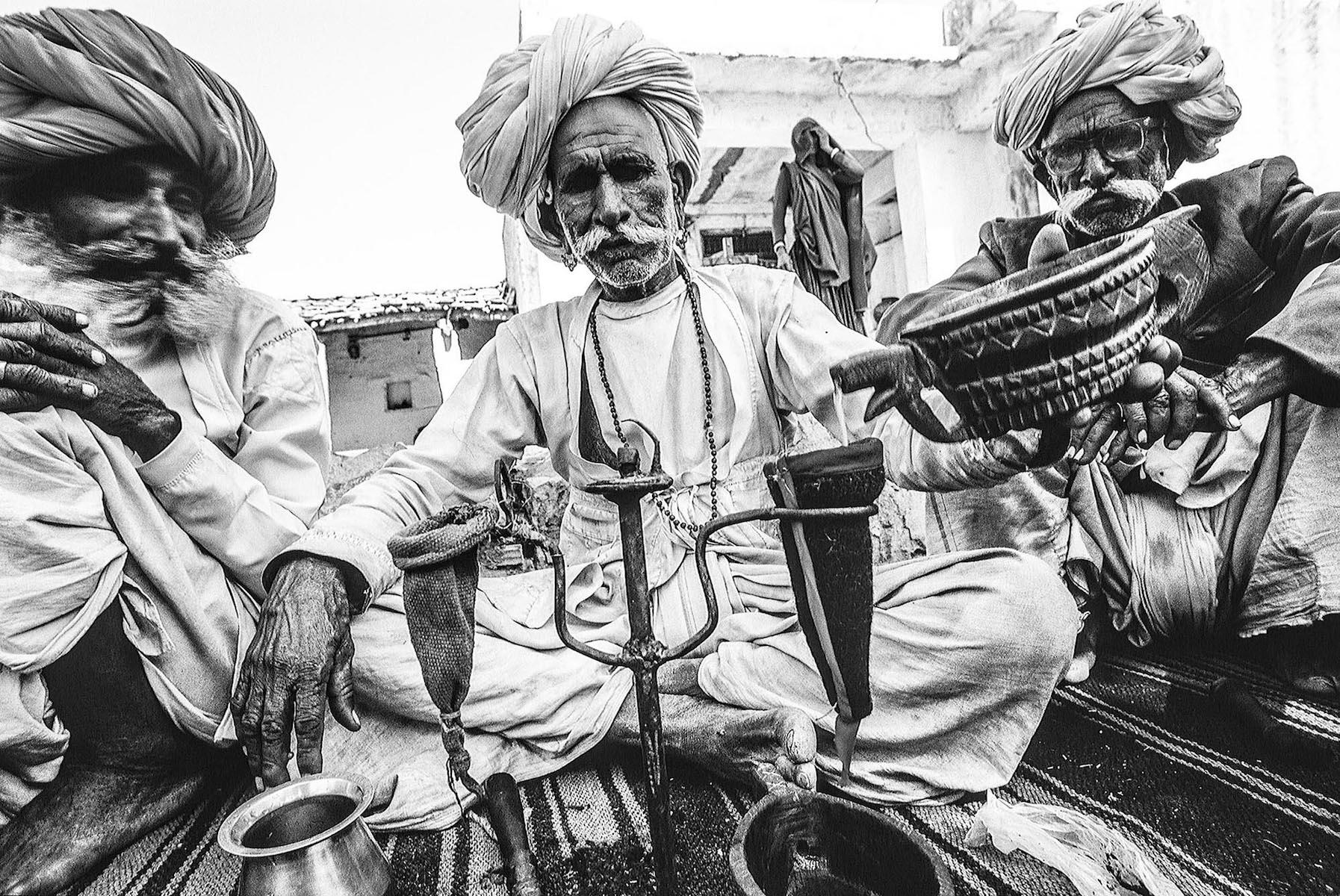 Opium ritual; India 2002